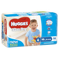 Huggies Ultra Dry Nappies - Junior Boy 16+kg (14)