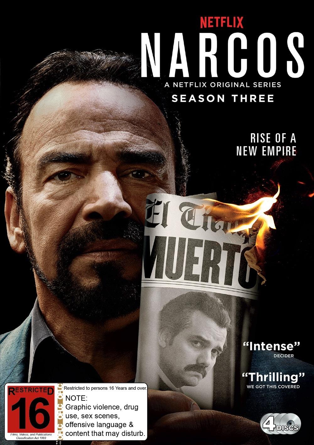 Narcos: Season 3 on DVD image