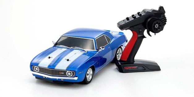 Kyosho: 1/10 EP RS 4WD Fazer Mk II 1969 Chevy Camaro Z/28 Le Mans Blue RC Car (with Battery & Charger)