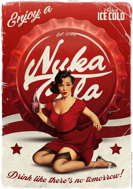 Fallout - Premium Art Print - Nuka Cola (Limited Edition)