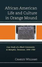 African American Life and Culture in Orange Mound by Charles J. R. Williams