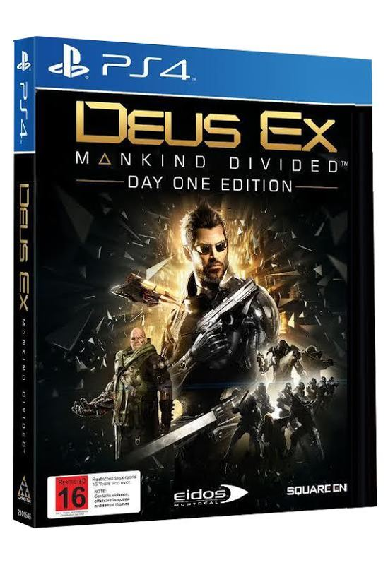Deus Ex: Mankind Divided Day 1 Edition for PS4