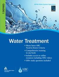 WSO Water Treatment, Grade 1 by American Water Works Association (AWWA)
