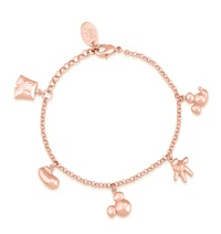 Disney Couture: Mickey Mouse Icon Charm Bracelet - Rose Gold
