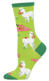 Socksmith: Women's Alpaca Lunch Crew Socks - Green