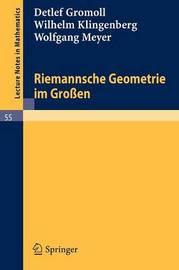 Riemannsche Geometrie Im Grossen by Detlef Gromoll