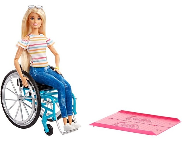 Barbie: Fashionistas Doll #132 - With Wheelchair Accessory (Blond)