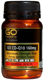 Go Healthy GO Co-Q10 160mg (30 Capsules)