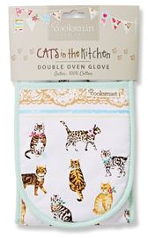 Cooksmart Double Oven Glove - Cats On Parade