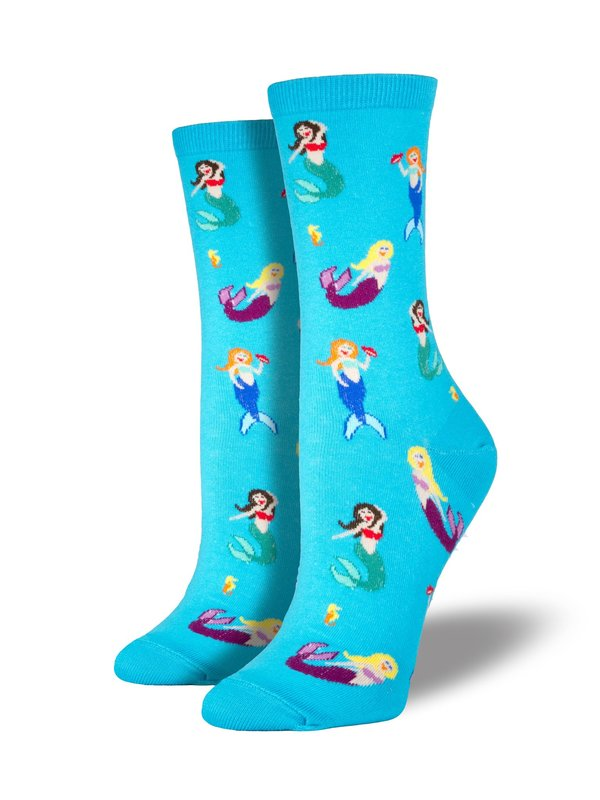 Womens - Mermaids Crew Socks