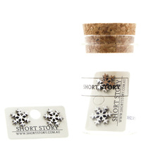 Short Story: Funky Play Earrings - Silver Snow Flake