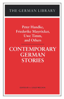 Contemporary German Stories by Peter Handke