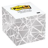 Post-it Notes Metallic Cube - White