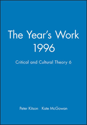The Year's Work in Critical and Cultural Theory by Peter Kitson image