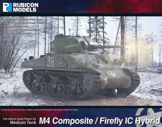 Rubicon 1/56 M4 Sherman Composite / Firefly IC Hybrid