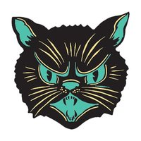 Creepy Co: Beistle Scratch Cat Enamel Pin
