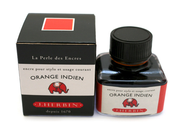 J Herbin: Fountain Pen Ink - Orange Indien (30ml)