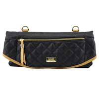 Isoki: Adelaide Change Mat Purse - Black/Tan Quilted