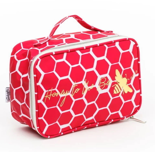 The Goodnight Society: Cosmetic Bag Large - Honey Bee Print