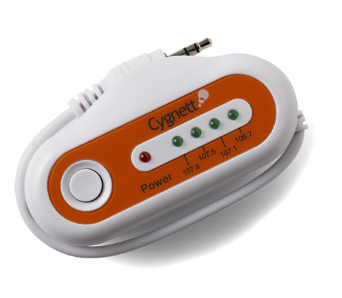 Cygnett GROOVE TRIP - MP3 FM TRANSMITTER (4 PRESETS + LED'S)
