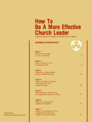 How To Be A More Effective Church Leader by Norman, L Shawchuck