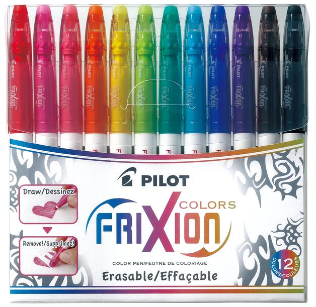 Pilot FriXion Erasable Colours Pens Pkt 12
