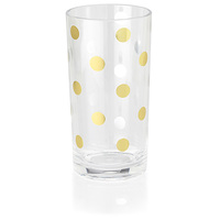Kate Spade Acrylic Highball Tumblers - Set of 2 (Gold Dot)