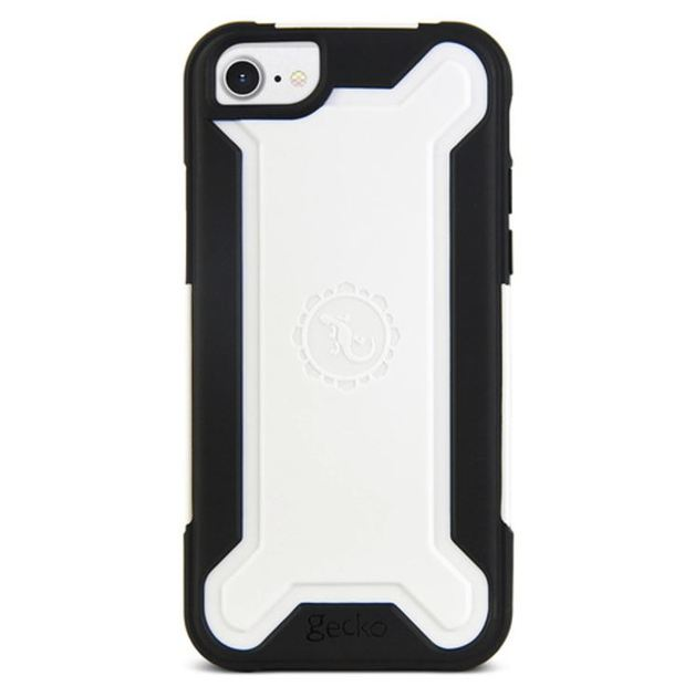 Gecko Ultra Tough Armour for iPhone 7/6/6s - Black/White