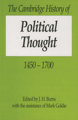 The Cambridge History of Political Thought 1450-1700 image