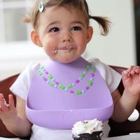 Make My Day: Silicon Baby Bib - Jewel Purple