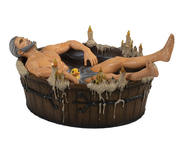 The Witcher 3: Geralt in the Bath Statuette image