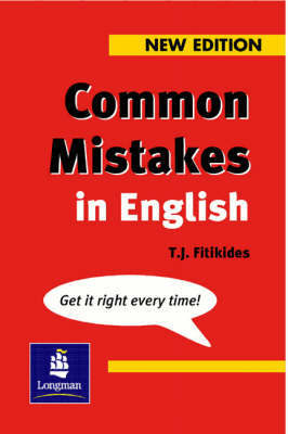 Common Mistakes in English New Edition by T.J. Fitikides image