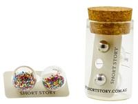 Short Story: Fantasy Bubble Earrings - Confetti Multi image