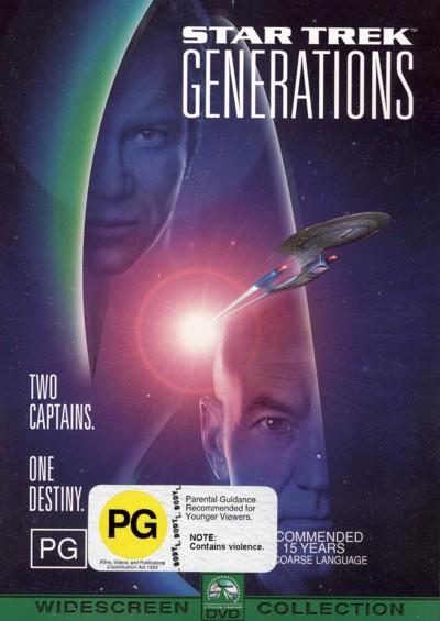 Star Trek: Generations on DVD image