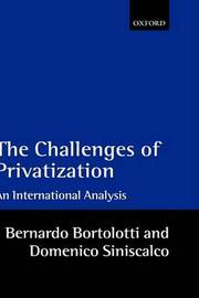 The Challenges of Privatization by Bernardo Bortolotti