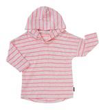 Bonds Salt & Pepper Hoodie T-Shirt - Stripe Neo Heart (12-18 Months)