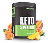 Keto Switch - Ketogenic Performance Fuel - BHB Ketones - Peach Mango (40 Serves)
