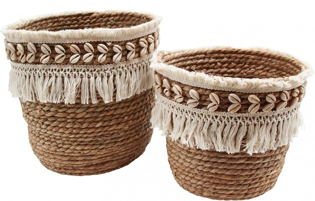 LaVida: Basket Fringe - Small (Set of 2)
