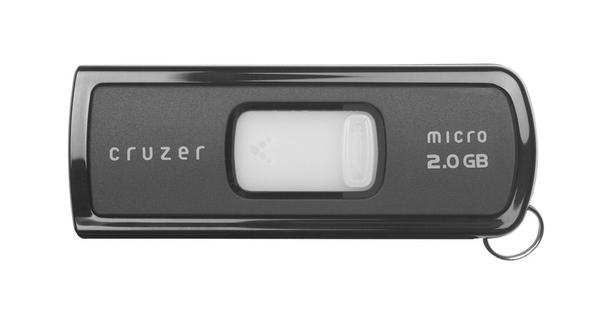 SanDisk Cruzer Micro USB Flash Drive 2048MB U3 image