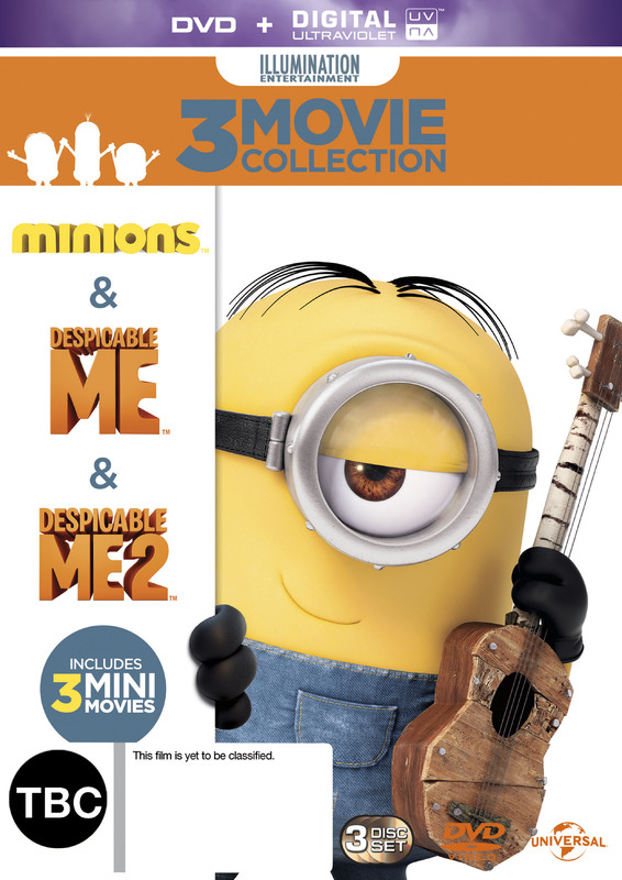 Minions/ Despicable Me/ Despicable Me 2 on DVD