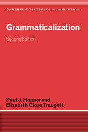 Grammaticalization by Paul J. Hopper