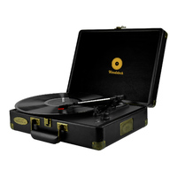 mBeat Woodstock Retro Turntable Player – Black