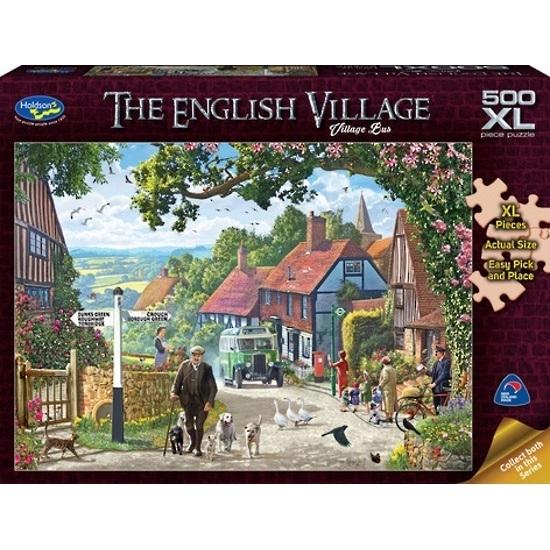 Holdson: The English Village - Village Bus 500 Piece XL Puzzle
