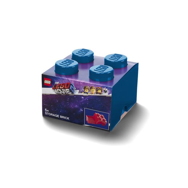 LEGO Movie 2: Storage Brick 4 (Bright Blue)