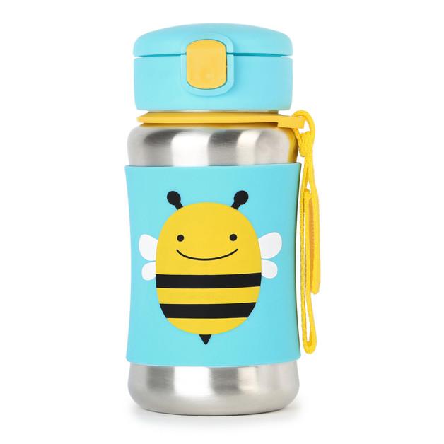 Skip Hop: Zoo Stainless Steel Straw Bottle - Bee