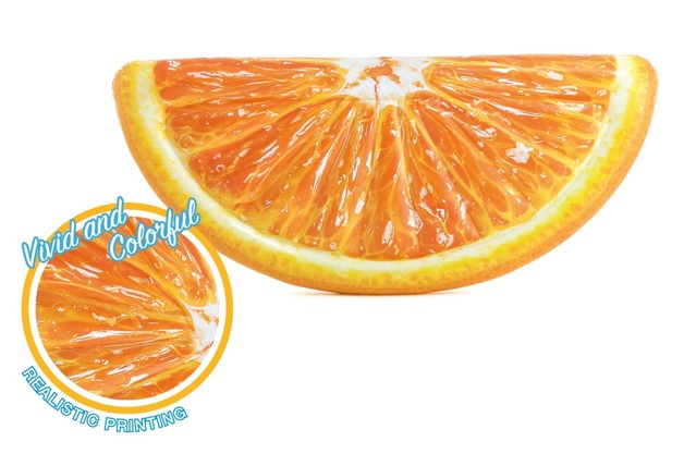 "Intex: Orange Slice - Inflatable Lounger (70"" x 33"")"
