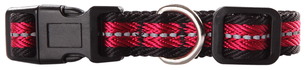 Pawise: Dog Reflective Collar - Red/Large(40-65cm/25mm)
