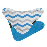 Mum 2 Mum Fashion Bandana Wonder Bib (Teal Chevron/Teal)
