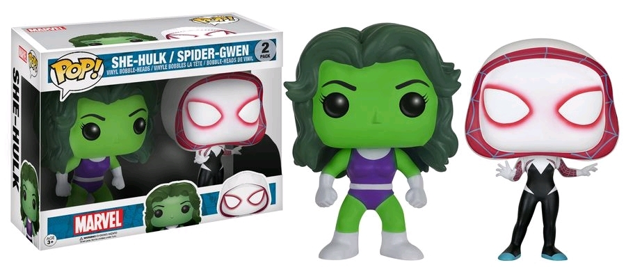 Marvel - She-Hulk & Spider-Gwen Pop! Vinyl 2-Pack image