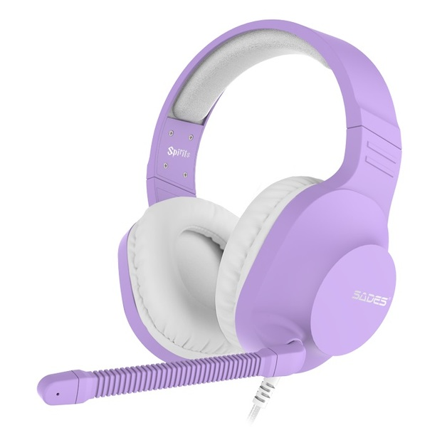 SADES Spirits Universal Gaming Headset (Purple) for Switch, PC, PS4, Xbox One